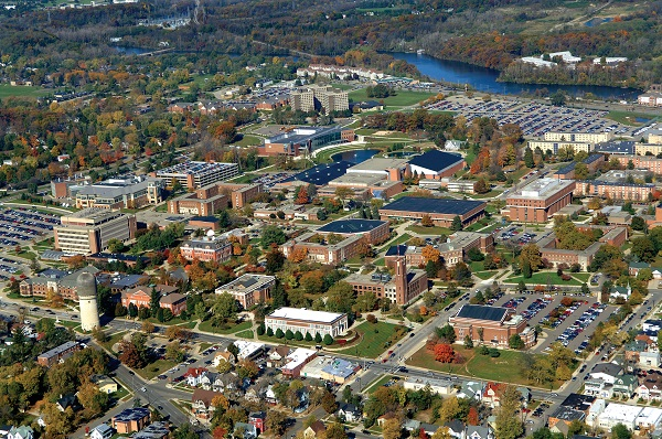 Eastern Michigan University aerial view