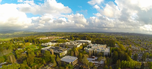 Aerial view of CSU, Sonoma