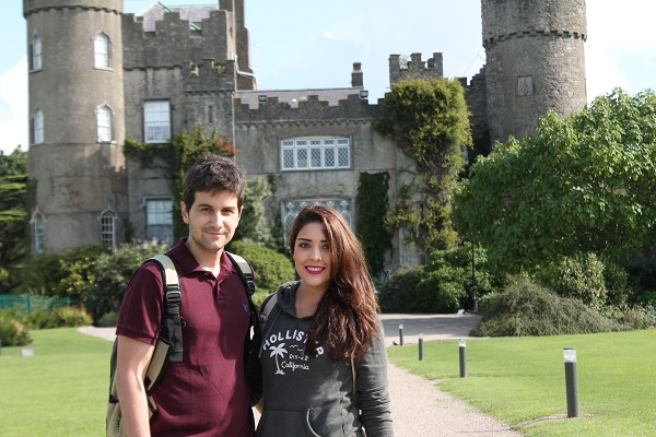 Irish College of English students at Malahide Castle