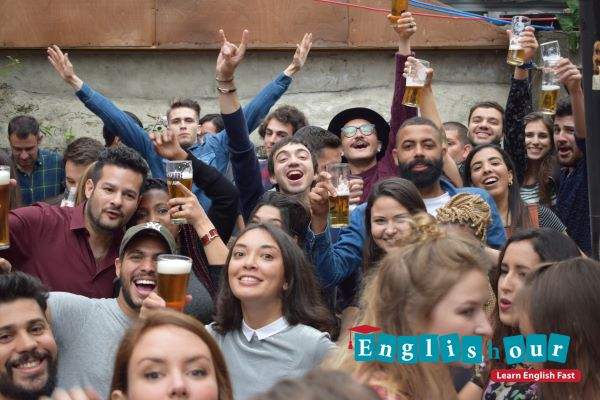 Englishour students party